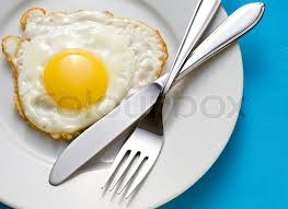 egg plate fried egg on a plate with flatware stock photo colourbox