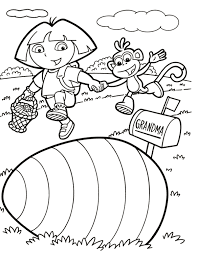 dora coloring pages sun flower pages