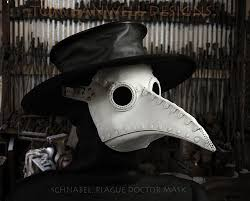 white plague doctor mask plague doctor mask in leather schnabel tom banwell designs
