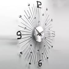 clocks silver wall clock chrome wall clocks large square silver