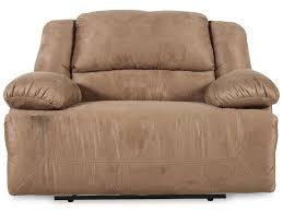 Oversized Rocker Recliner Furniture Plush Fabric Oversized Recliners In Brown For Home