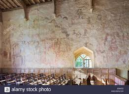 medieval wall painting in the church of st nicholas in the