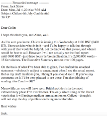 Cover Letter For Political Internship In Leaked Emails Iraq War Architect Expressed Relief That Brexit