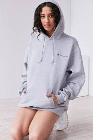 slide view 5 champion uo powerblend mini logo hoodie