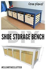 Diy Portable Workbench With Storage Free Plans by Diy Shoe Storage Bench Free Plans Scrapworklove