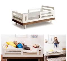 oeuf classic toddler bed white w walnut urbanbaby