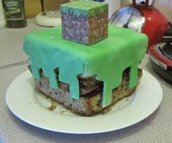 how to make a minecraft cake with pictures