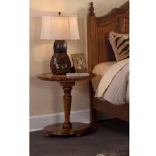 american woodcrafters hudson bay golden brown pedestal nightstand