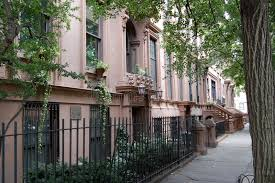brownstone homes brooklyn heights new york city editorial image