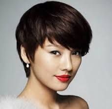 asian short hairstyle short haircut with choppy texture for asian