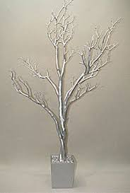4 foot silver tree in decorative pot bendable branches buy now