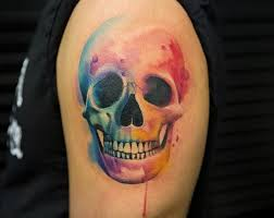 colorful skull inkstylemag