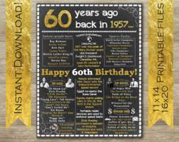60th birthday party ideas 60th birthday etsy