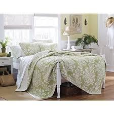 Laura Ashley Bedroom Images Amazon Com Laura Ashley Brompton Serene Reversible Quilt Set