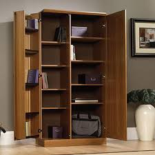 cabinet with shelves and doors simple home office with light brown storage cabinets swinging doors