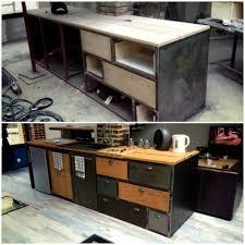 cuisine bois et metal cuisine loft bois metal côté évier