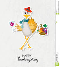 Free Happy Thanksgiving Happy Thanksgiving Day Background With Hipster Turkey Stock Photo