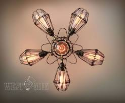 Vintage Flower Chandelier Buy Custom Made Westmenlights Vintage Wrought Iron Flower Cage