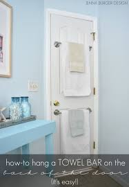 How To Hang A Cabinet Door Back Of The Door Towel Bar Jenna Burger