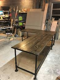 Industrial L Shaped Desk Industrial Pipe L Shaped Desk Pipes Desks And Industrial