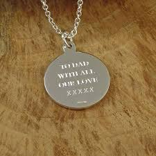 Engraving Necklaces St Christopher Medal Necklace By Hersey Silversmiths