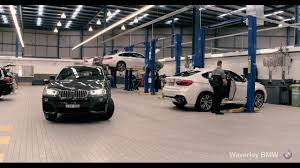 bmw dealership inside waverley bmw workshop youtube