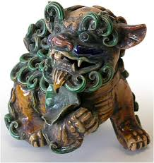 foo dogs for sale 19th century sancai foo dog pair