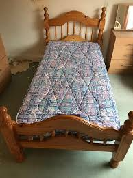 Bed Frames Belfast Single Heavy Pine Wood Bed Frame And Mattress 95 In Belfast