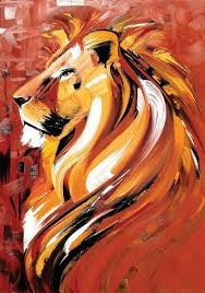 abstract lion painting 25 lion painting ideas