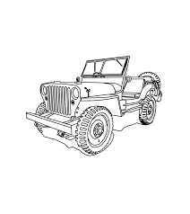 jeep wrangler front drawing fun cj 3b high hood for the jeep coloring book jeep coloring