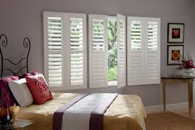interior white paint graber shutters also crown molding and