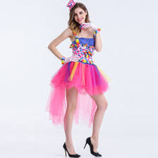 Ladies Clown Halloween Costumes Discount Tutu Halloween Costumes 2017 Tutu Halloween