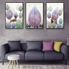 poster colour paintings promotion shop for promotional poster colour leaves veins deer landscape art canvas poster print picture minimalism modern home decor painting no frame free shipping