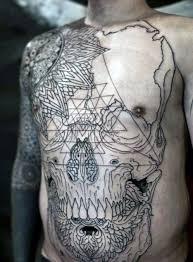 10 best skull chest tattoo designs images on pinterest chest