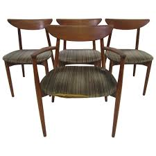 set of four harry ostergaard teak danish modern dining chairs mid