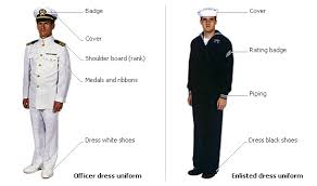 navy and novels officer and enlisted uniforms