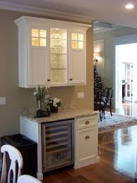 building a bar with kitchen cabinets wine serving station with built in wine fridge and upper cabinet