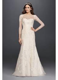 lace 3 4 sleeve wedding dress oleg cassini lace wedding dress with 3 4 sleeves david s bridal