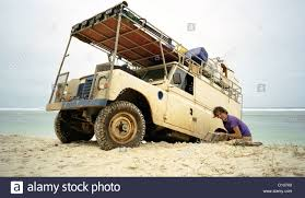 african jeep african land rover jeep safari vehicle jungle dir stock photo