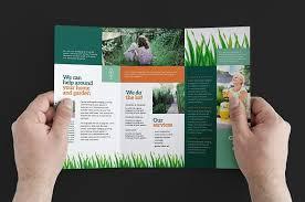 gardener trifold brochure template brochure templates creative