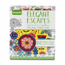 amazon com crayola elegant escapes coloring book crayola