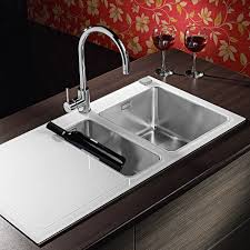 modern kitchen sink with drain boards and chrome faucet modern kitchen sinks trends rooms decor and ideas
