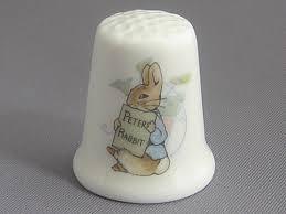 rabbit wedgwood wedgwood thimble beatrix potter rabbit