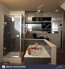 split level bedroom split level bedroom and ensuite bathroom stock photo 2219324 alamy