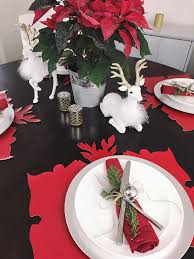 red and silver christmas table settings fab everyday because everyday life should be fabulous www