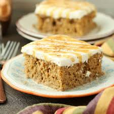 pumpkin spice latte poke cake recipe food fanatic