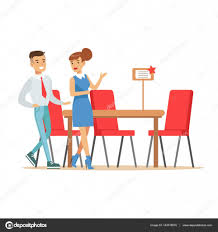 Shopping For Home Decor Couple Buying Big Dining Table And Chairs For Dining Room Smiling