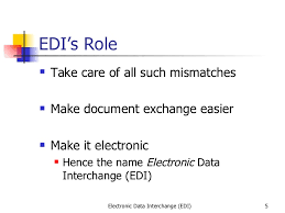 1 electronic data interchange edi