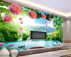 custom any size 3d flower vines landscape tv background wall see larger image