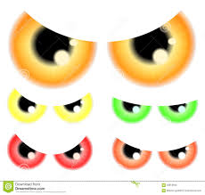 halloween white background set of happy halloween spooky scary eyes eyeballs iris pupil